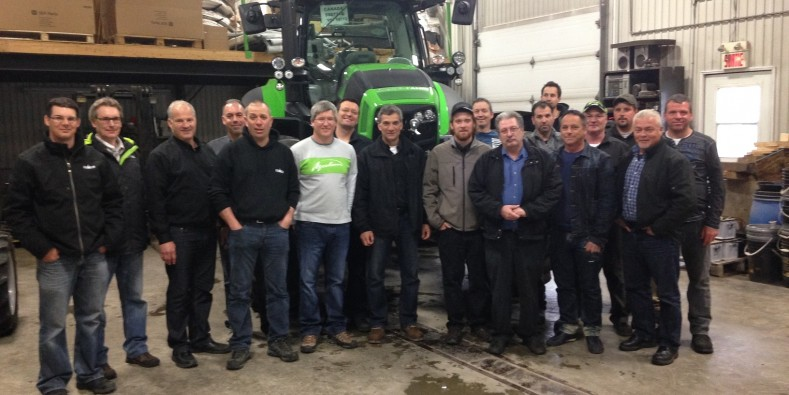 2015 French training done at Machinerie R. Gagnon, Quebec