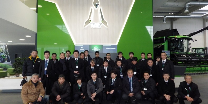 Japanese delegation visits DEUTZ-FAHR LAND