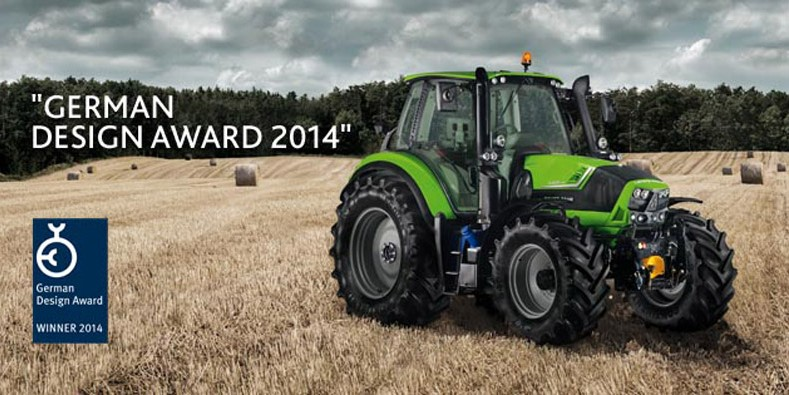 De DEUTZ-FAHR 6 Series en de MaxiVision-cabine winnen de German Design Award 2014.