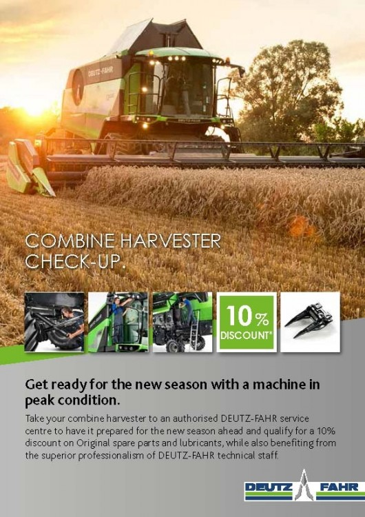 COMBINE HARVESTER CHECK-UP
