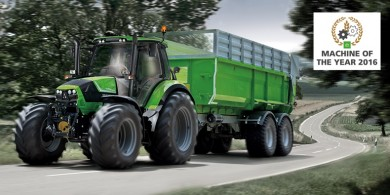 "SÉRIE 6 CSHIFT DA DEUTZ-FAHR GALARDOADA COM O PRÉMIO ""MACHINE OF THE YEAR 2016"""