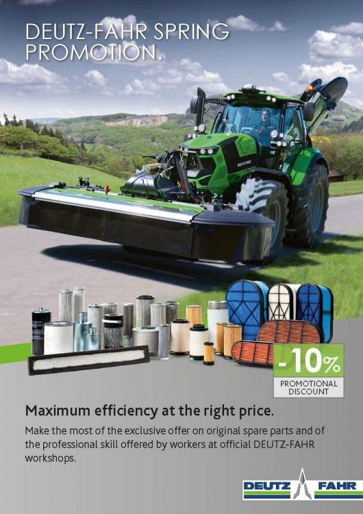 DEUTZ-FAHR SPRING PROMOTION.