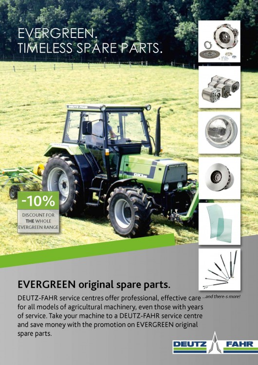EVERGREEN. TIMELESS SPARE PARTS.
