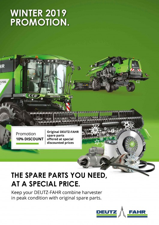 WINTER 2019 PROMOTION. THE SPARE PARTS YOU NEED, AT A SPECIAL PRICE.